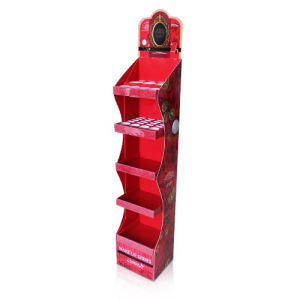 Point of Sale Cardboard Floor Display Shelf for Cosmetics. pictures & photos