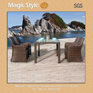 Modern Dining Set Hot Sale Furniture Patio Dining Set Garden Furniture Rattan Chair Dining Chair Outdoor Furnitur (Magic Style) pictures & photos