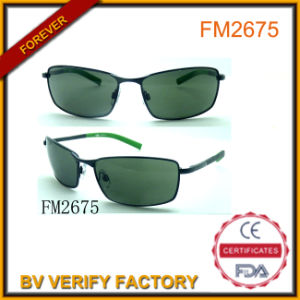 Wholesale Vintage Metal Sunglasses with Shinny Color Temples pictures & photos