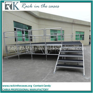 Rk Wholesale Portable Stage Adjustable Stage Equipment for LED Light Performance pictures & photos