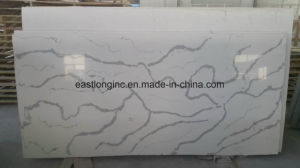 Hot Sale Calacatta Artificial Quartz Stone Slab for Solid Surface pictures & photos
