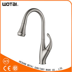 Upc Brushed Nickle PVD Pull out Kitchen Faucet pictures & photos