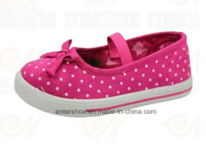 Polka DOT Vulcanized Children Printed Canvas Shoes (ET-MY170412K)