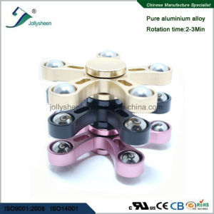 Five Leaves of Alloy Hand Spinner Fidget Spinner Finger Spinner with 5 Balls pictures & photos