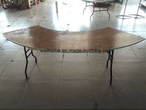 High Quality Wooden Folding Table for Banquet Hall pictures & photos
