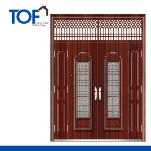 Decorated CIQ Soncap High Quality Steel Security Exterior Door