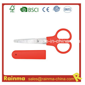 Red Stationery Scissors with Storage Case pictures & photos