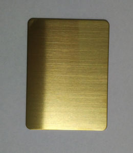 304 Steel Products Gold Hairline Color Stainless Steel Plate pictures & photos