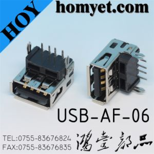 Professional Factory Solder Type USB Female Connector for Electronic Products (USB-AF-06) pictures & photos