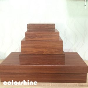 Classic Red Wooden Like Jewellery Packing Gift Box pictures & photos