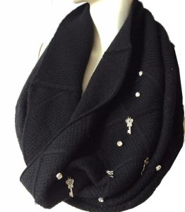 100%Cashmere Diamond Bling Bling Snood pictures & photos