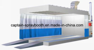 Car Spray Booth with Preparation Station / Prep Station / Preparation Area pictures & photos