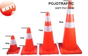 "28"" Fluorescent Orange Flexible Reflective Road Safety Cone"