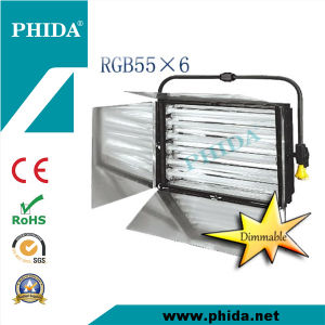 55W*6 Dimmable Pole Operated RGB Tri-Color Softlight