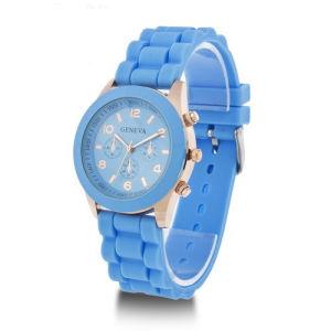 Fashion Lady Quartz Watch, Silicone Wristwatch pictures & photos