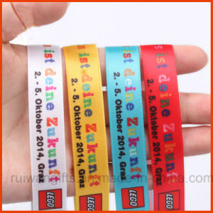 Custom Fabric Woven Wristband with Embroidery Logo for Event (PBR002) pictures & photos