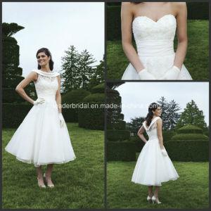 Tea-Length Bridal Reception Gowns Lace Jacket Wedding Dresses Z8046 pictures & photos