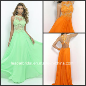 Cross Back Party Prom Cocktail Gown Vestidos Lace Evening Dress Ld152912 pictures & photos