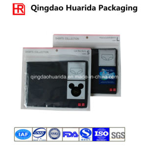 Plastic Transparent Reclosable Garment Packaging Bag with Custom Logo pictures & photos