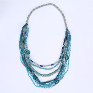 Long Multi Stands Plastic Bead Necklace pictures & photos