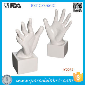 Decorative White Ceramic Lifelike Hand Bookend pictures & photos