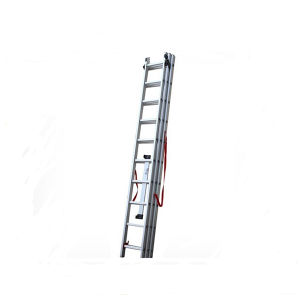 High Quality 3 Section Aluminum Folding Extension Ladder pictures & photos