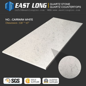 Artificial Polished Quartz Stone for Countertop/Engineered/Building Material with Solid Surface/SGS/Ce (Calacatta/white stone) pictures & photos