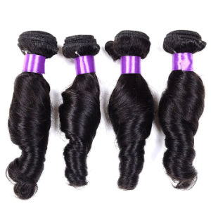 Soft 7A Hair Peruvian Virgin Hair 4 Bundles Natural Curly Human Hair Weave Peruvian Loose Wave Virgin Remy Hair Bundles pictures & photos