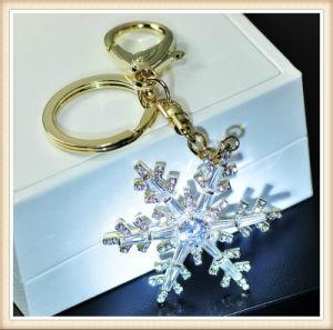 New Design Glass Stones Flower Shape Pendant Fashion Keychain pictures & photos