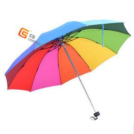 Wholesale Promotional Gift Outdoor Rain Reflective Folding Umbrella (YS-3F1005A)