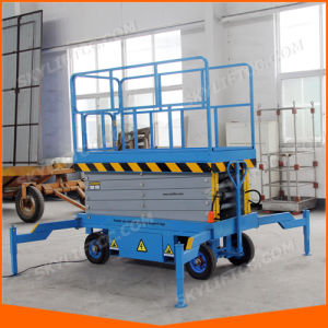 8m Hydraulic Electric Self-Propelled Small Scissor Elelvator Lift pictures & photos