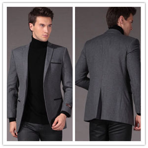 Wholesale OEM Mens′s Formal Buiness Grey Suit Blazer pictures & photos