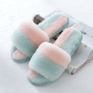 Colorful Sheepskin Women Slipper Indoor Shoes pictures & photos