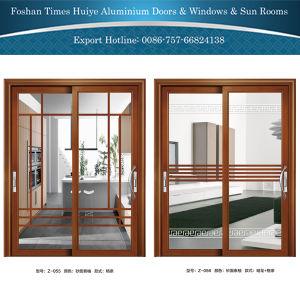 Aluminium/Aluminum Hanging Doors with Brazil Jade Sandalwood Color pictures & photos