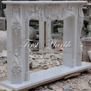 Classical White Carrara Fireplace for Home Furniture Mfp-114 pictures & photos