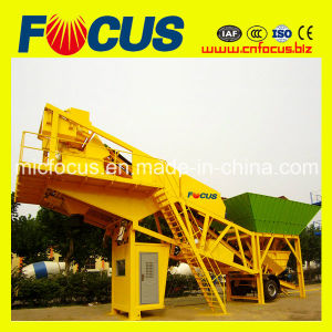 High Quality 75m3/H Self-Auto Mobile Concrete Batching Plant, Trailer Concrete Mixing Plant pictures & photos