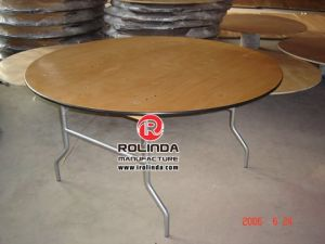 Wooden Folding Coffee Table with Plywood Top Metal Leg pictures & photos