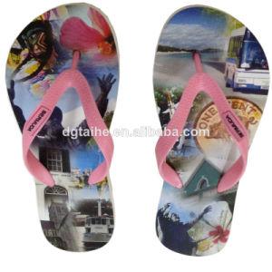 Heat Transfer Printing EVA Flip Flops pictures & photos