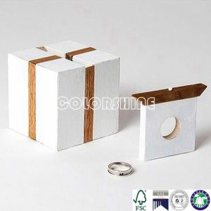 Customized New design White Ring Gift Packing Paper Box