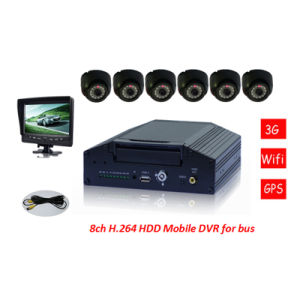 New! 8CH Real-Time Motion Detection WiFi 3G Car Mobile DVR pictures & photos