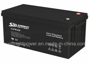 Solar Power Rechargeable 12V200ah Deep Cycle AGM Battery pictures & photos