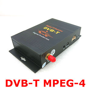 4 Video Output MPEG-4 Car DVB-T for Mobile Digital TV Tuner Receiver