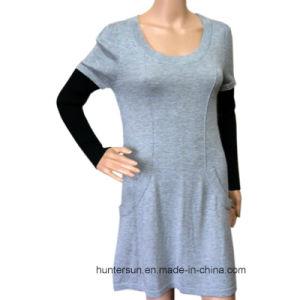 Women Sweater with Pocket Round Neck Knitwear (HS5576)