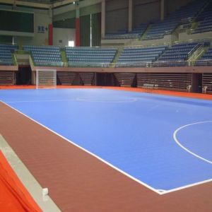 2017 New Product with High Quality Indoor PVC and PP Interlock Sports Floor for Sports pictures & photos