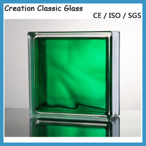 Blue/Green/Clear Diamond Patterned Glass Block/Brick Glass for Decoration/Ce pictures & photos