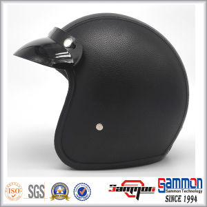 High Quality Vintage Leather Harley Motorcycle Helmet (OP238)