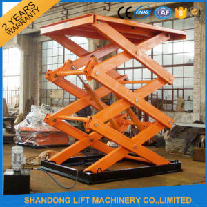Stationary Scissor Hydraulic Lift Platform / Material Lifting Platform pictures & photos