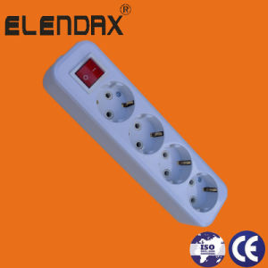 10/16A European Style 4 Way Switch Extension Power Socket (E8005ES) pictures & photos