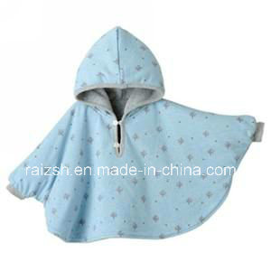 Polar Fleece Baby Poncho/Blanket with Hood