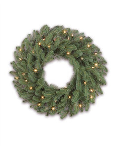 Christmas Wreath with PE Tips and LED String Lighting (pre-deco) pictures & photos